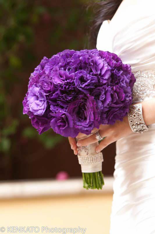 紫ウエディングブーケ