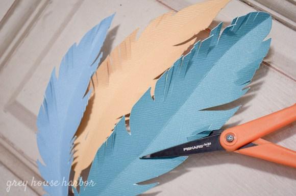 紙の羽根作り方
