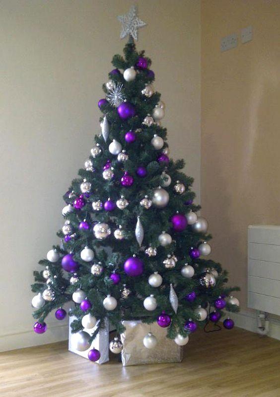 11パープル紫クリスマスツリー
