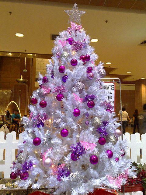 13パープル紫クリスマスツリー