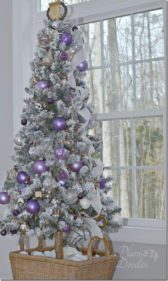 19パープル紫クリスマスツリー