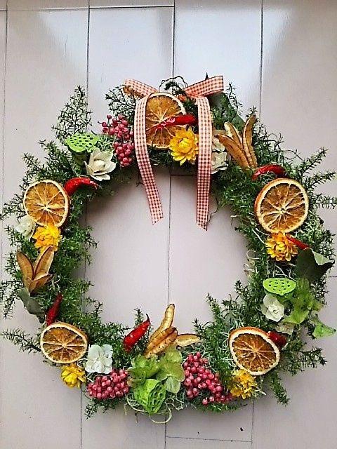 フルーツ&スパイスクリスマスリース