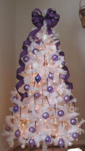 4パープル紫クリスマスツリー