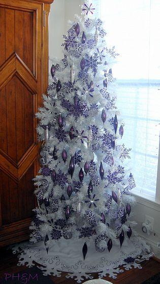 7パープル紫クリスマスツリー