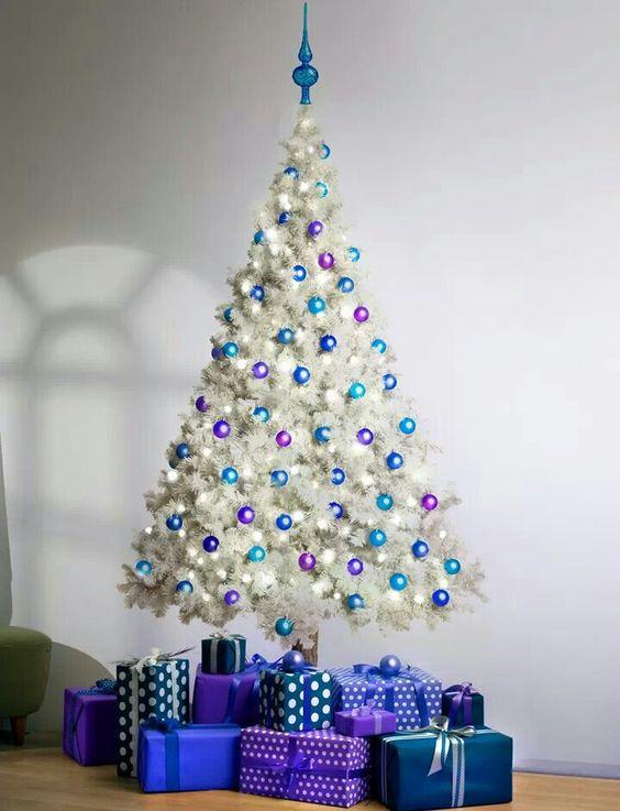 8パープル紫クリスマスツリー