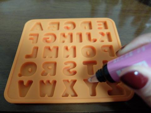 セリア文字チョコ型