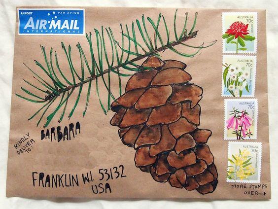 クリスマスカード封筒デコレーション