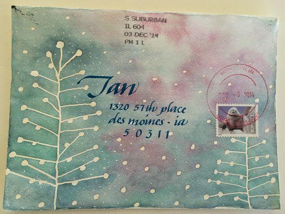 3クリスマスカード封筒デコレーション