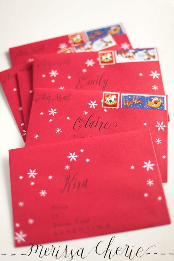 5クリスマスカード封筒デコレーション