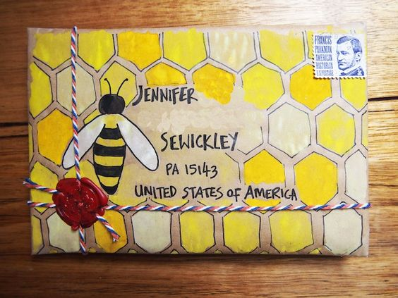 封筒デコレーション小包