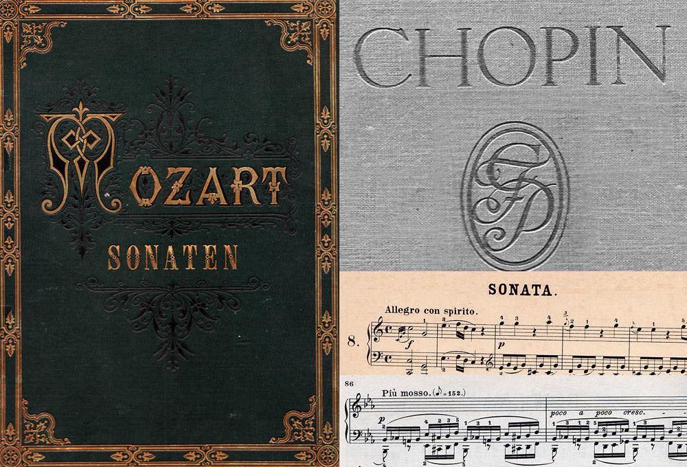 古い楽譜の無料素材