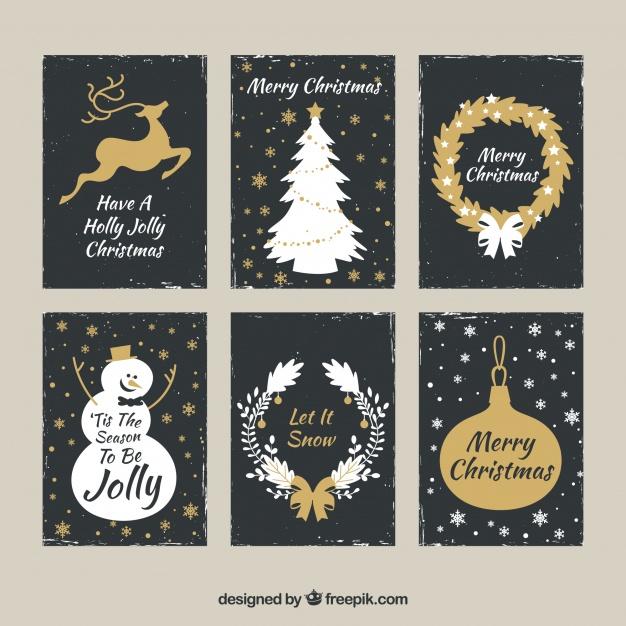 2クリスマスカード無料ダウンロード素材