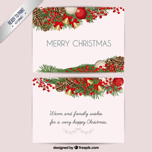 21クリスマスカード無料ダウンロード素材