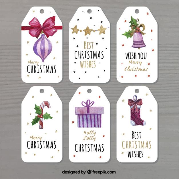 5クリスマスタグ無料素材