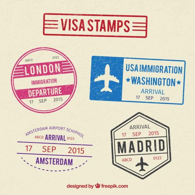 5パスポートスタンプ無料フリー素材