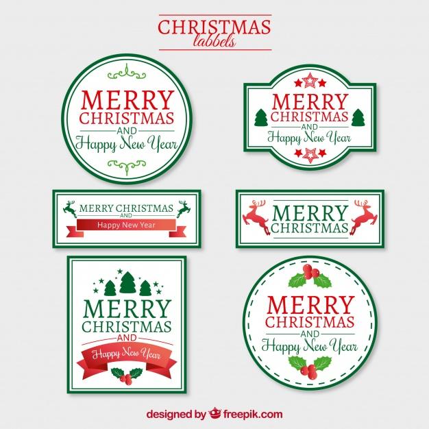 7クリスマス無料ラベル素材