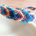 ミサンガ葉っぱ模様の編み方