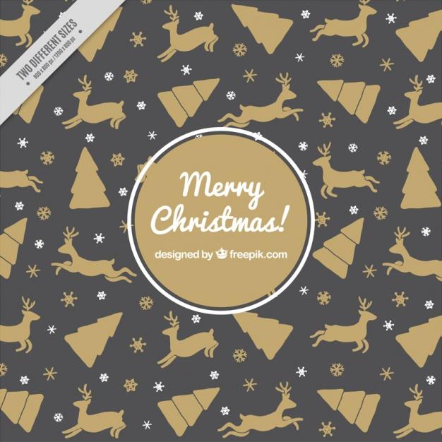 2黒ブラッククリスマスラッピングペーパー包装紙無料パターン素材