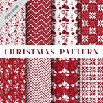 27クリスマスラッピングペーパー包装紙無料パターン素材