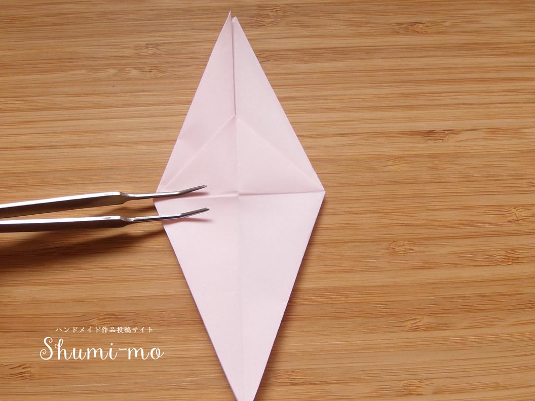 折り鶴カードスタンド14