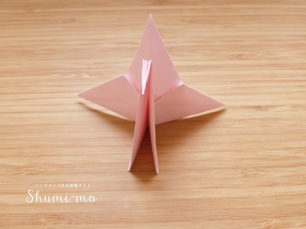折り鶴カードスタンド26