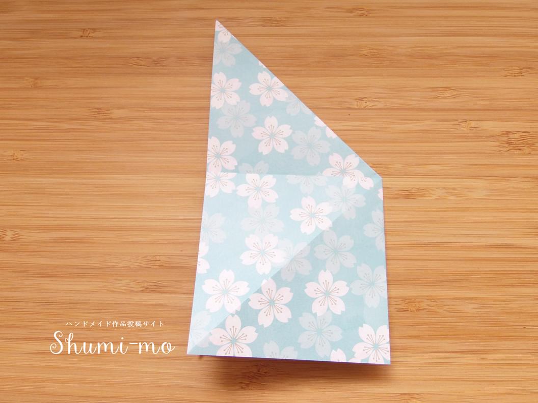 折り鶴席札カードホルダーの作り方5