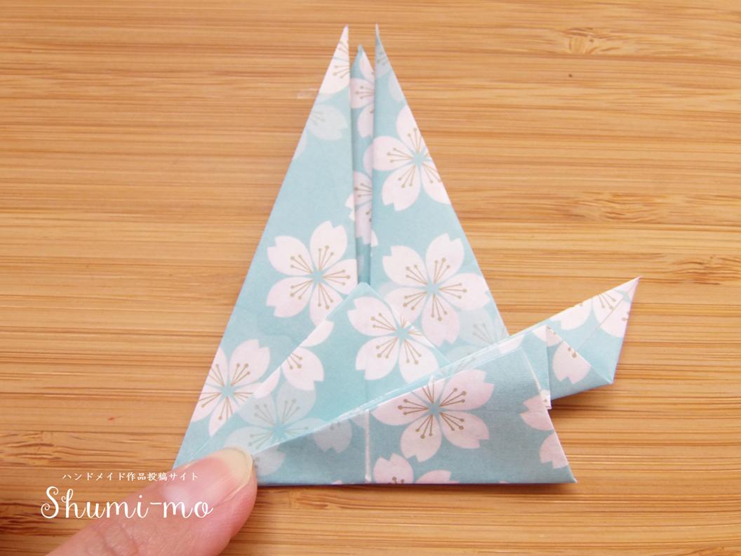折り鶴席札カードホルダーの作り方19