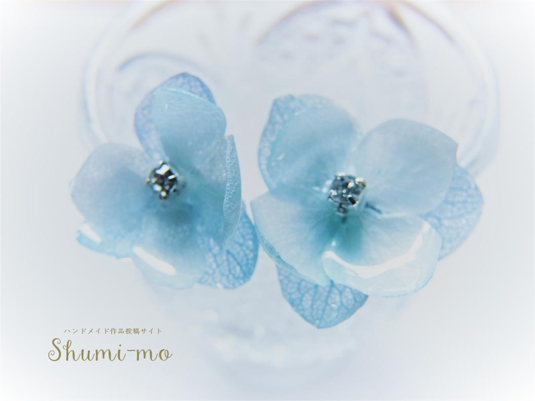 花びら二重のあじさいレジンピアスの作り方19