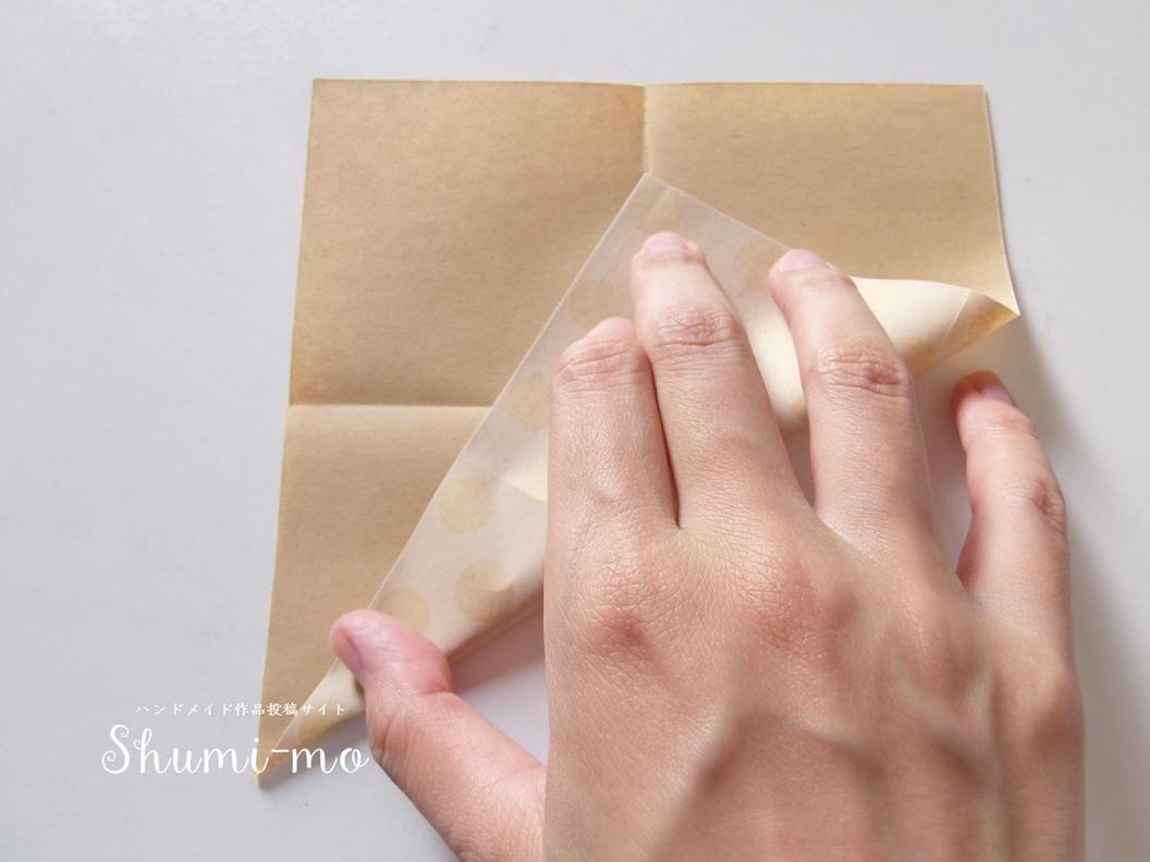 折り紙三角ボックス3
