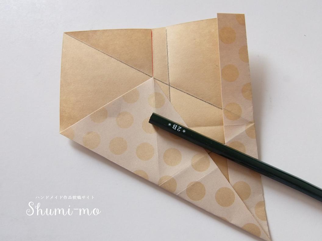 折り紙三角ボックス11