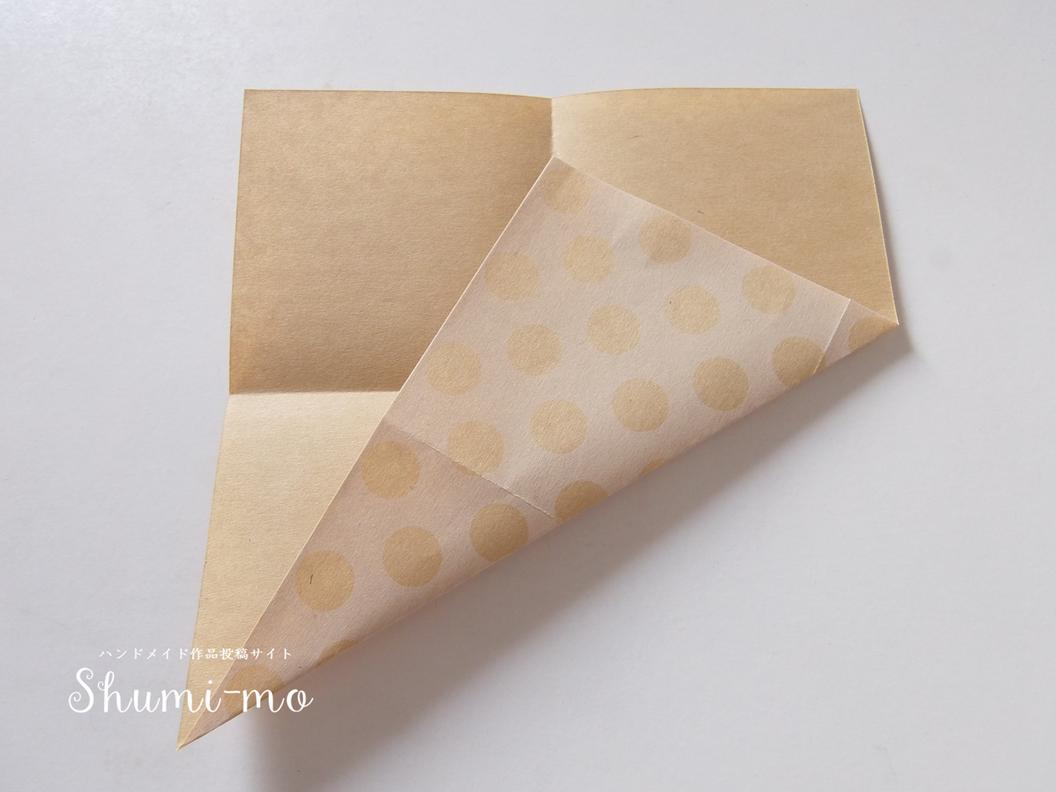 折り紙三角ボックス4